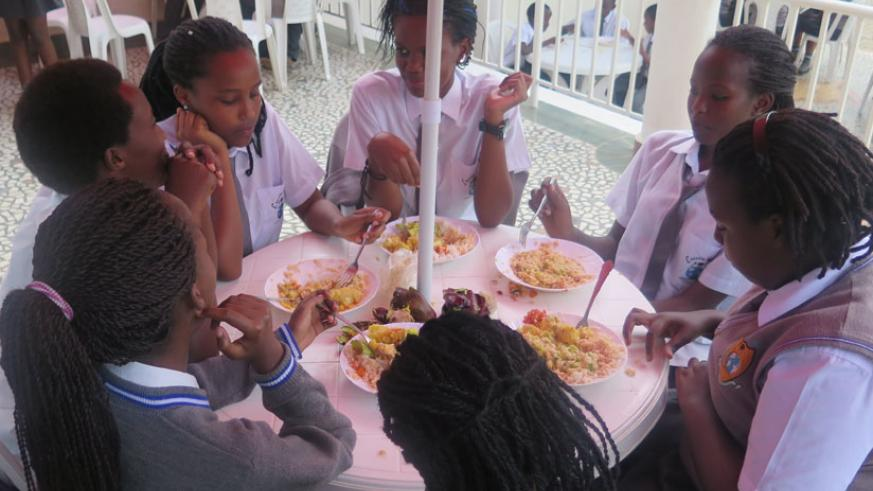 Learners must get used to eating school food although it may not be the best sometimes. (Solomon Asaba)