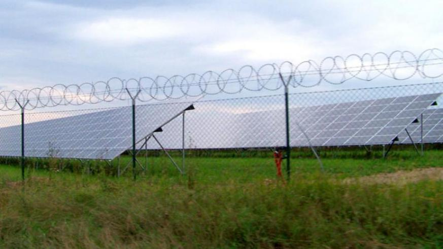 The expansive solar power plant at Agahozo-Shalom Youth Village in Rwamagana District. (Courtesy)