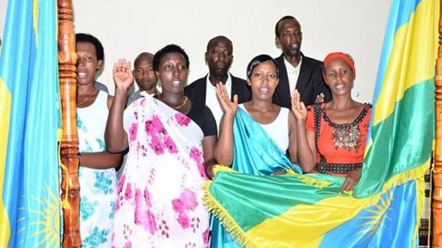 Some of the couples that legalised their marriages in Kamembe Sector, Rusizi District in July last year. (File)