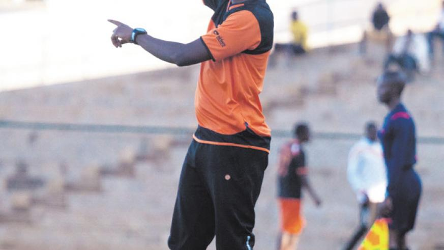 Isonga coach Innocent Seninga yesterday guided his team to their first league win. File