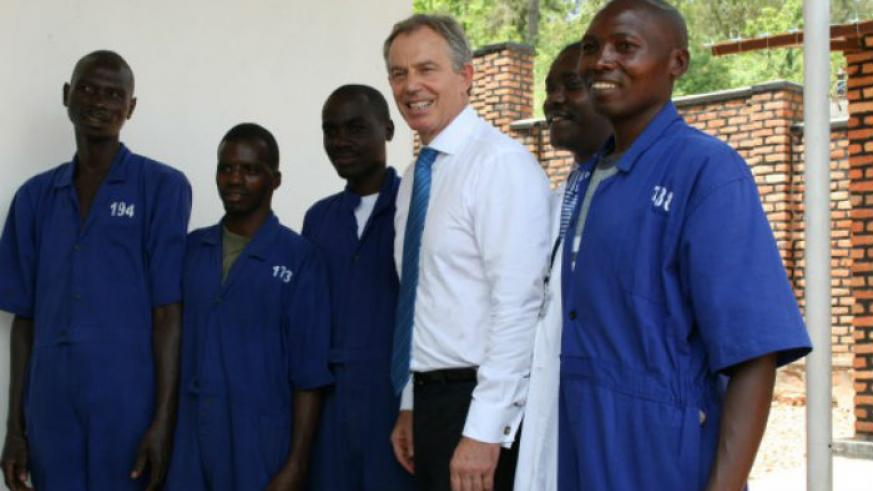 Former UK PM, Tony Blair on an earlier visit.