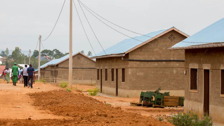 Some of the newly-constructed houses in Rusheshe in Masaka Sector, Kicukiro. (File)