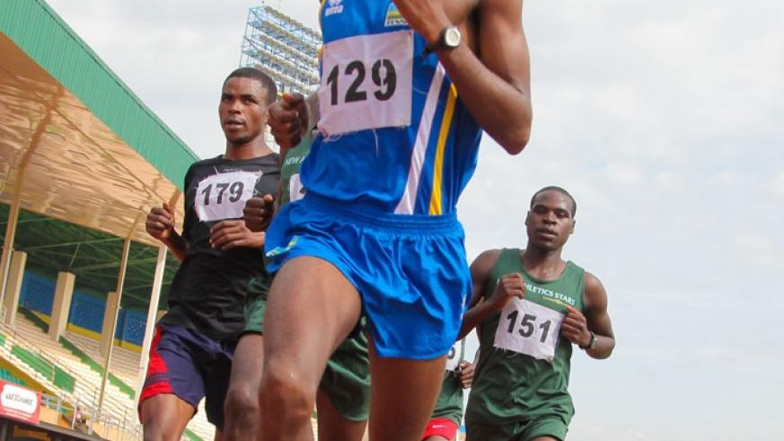 Eric Sebahire (in-front) will captain Team Rwanda at the 41st edition of the biannual event. (Doreen Umutesi)