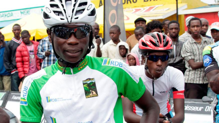 Jean-Bosco Nsengimana, who did not finish Stage 7. (File)