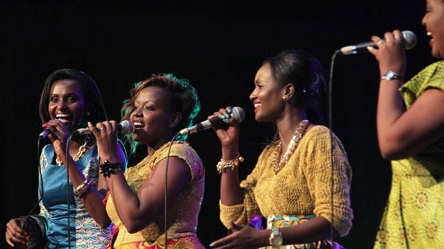 (L-R), Gaby, Tonzi, Fanny and Gahongayire of The Sisters, delivered a great performance. (Courtesy)