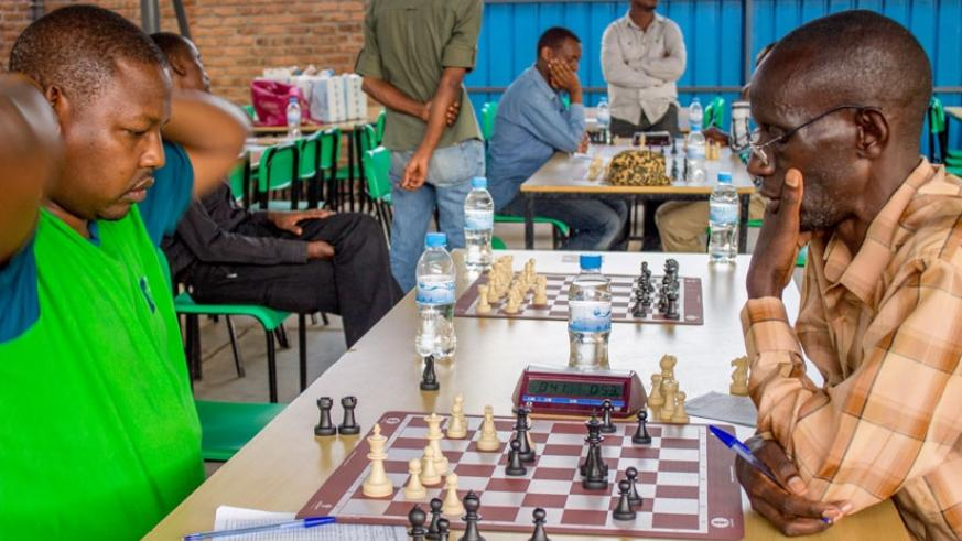 JB Hakizimana (playing black) battled Kenya's Ricky Sang in the final ninth round but eventually lost the game despite what initially looked like a good start by the former.