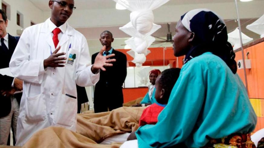 A doctor talks to a patient in Butaro Hospital in Burera District in 2013. (File)