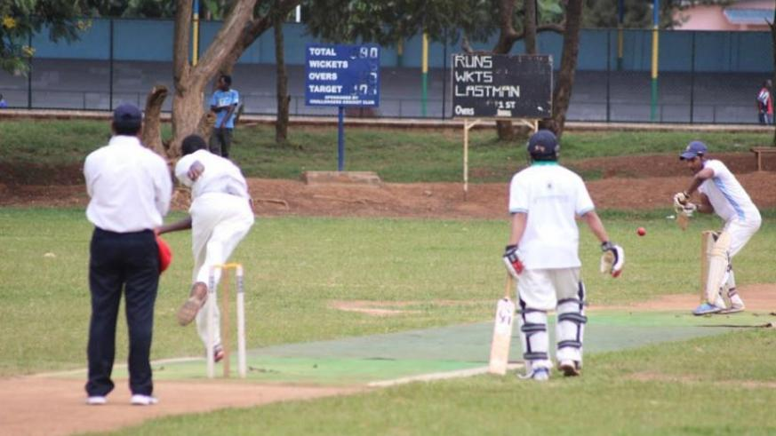 KCC batsmen Adeel Asghar and Kazim Patel in action against Right Guards on Sunday. (Courtesy)