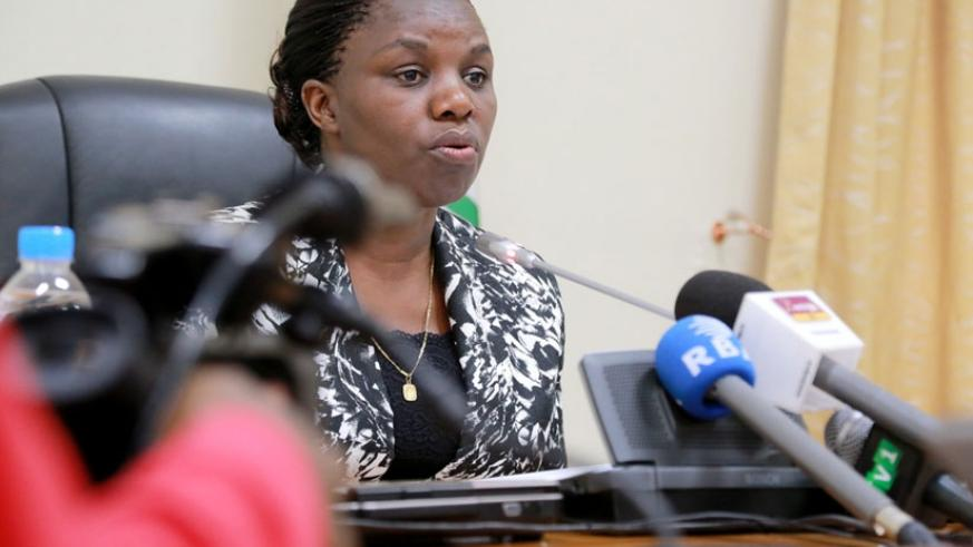 Minister Tugireyezu has said no one will be spared in the war against corruption. (Courtesy)