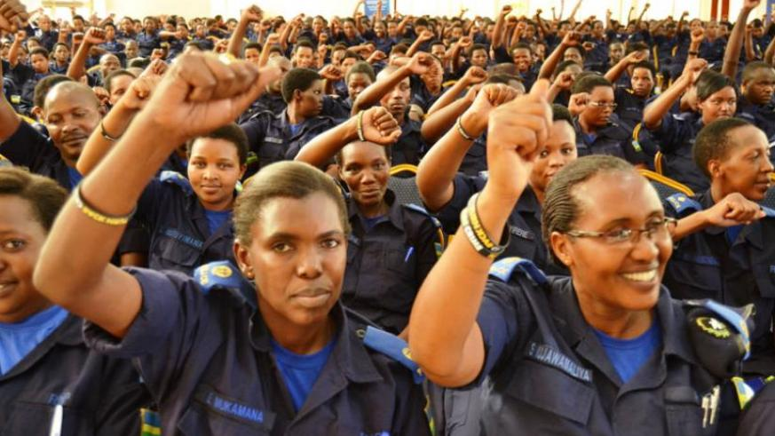 Police women officers at the convention. 