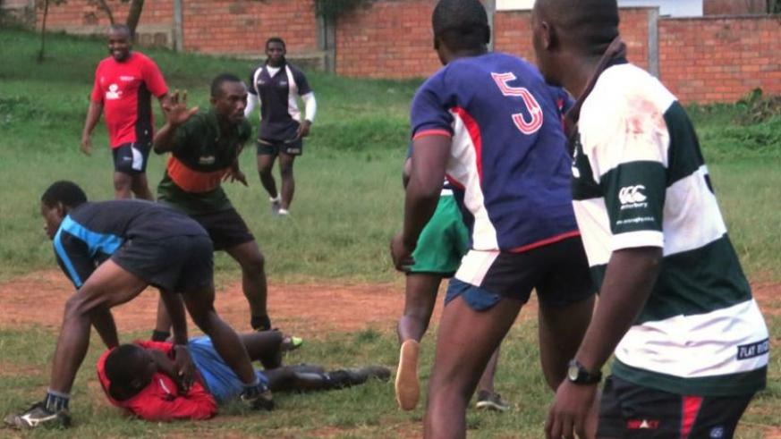 Silverbacks during a light training session at the Rugunga ground this week. (Stephen Kalimba)