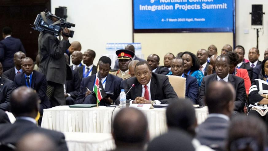 President Kenyatta speaks at the Heads of State Summit in Kigali at the weekend. (File)
