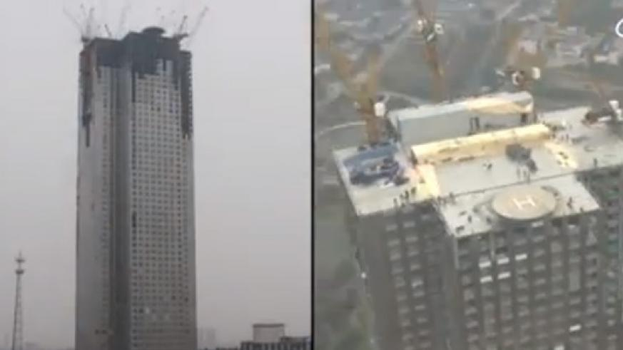 Broad Sustainable Building, a construction company in China, built this 57-floor building in just 19 days