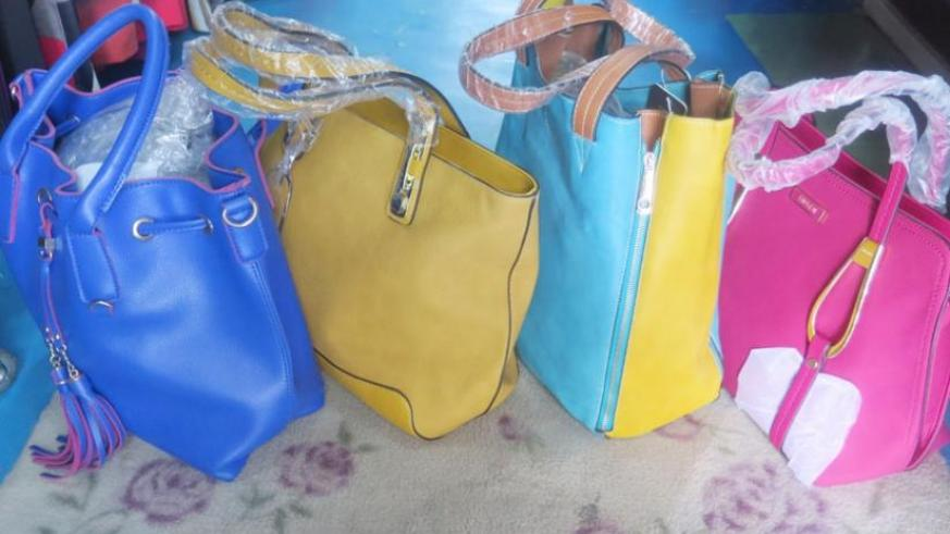 You can get multi-coloured bags in shops around town. (Donah Mbabazi)