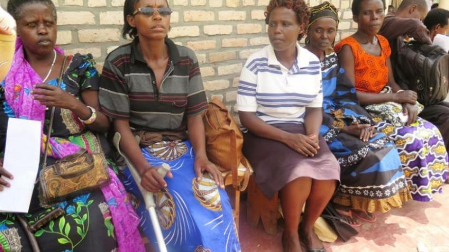 Some the patients await treatment at Kinazi Hospital in Ruhango District. (Emmanuel Ntirenganya)