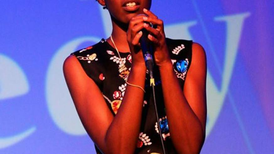 Weya says she was grateful for the opportunity to perform at the Comedy Nights show, held at Kigali Serena hotel, on Feb 28. (Courtesy)