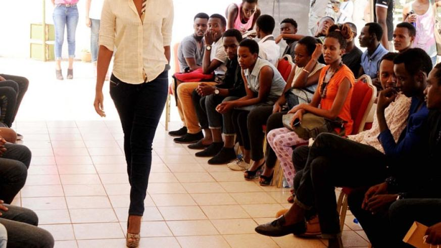 One of the contestants during the auditions at The Office in Kiyovu.