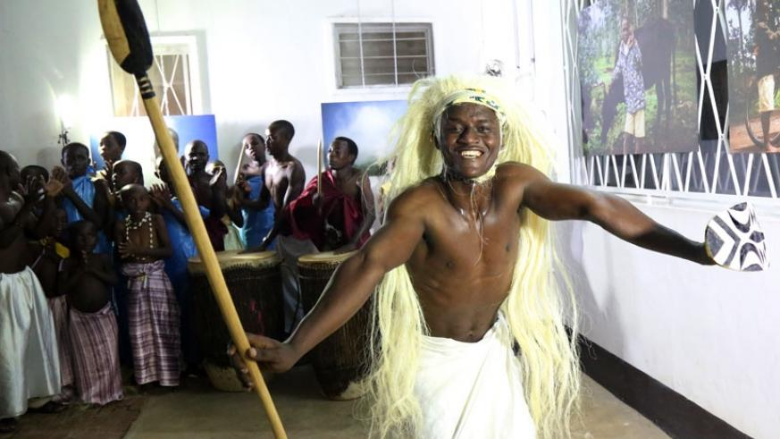 Niyo cultural troupe performs at Goethe Institute on Thursday. (All photos by John Mbanda)