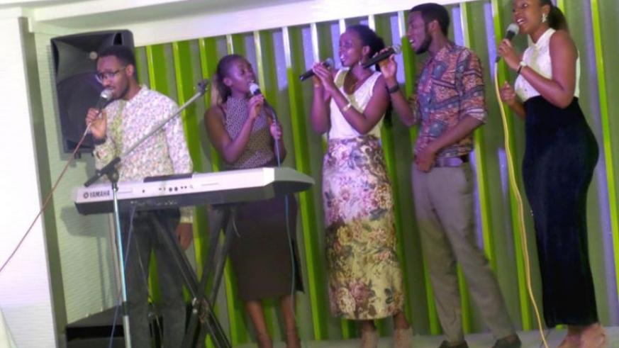 The Worshippers choir perform during Night of praise worship on Friday. (Courtesy)