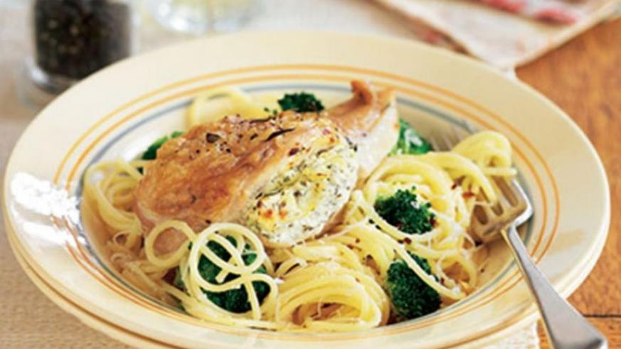 The fillet with spaghetti is a great choice for dinner.