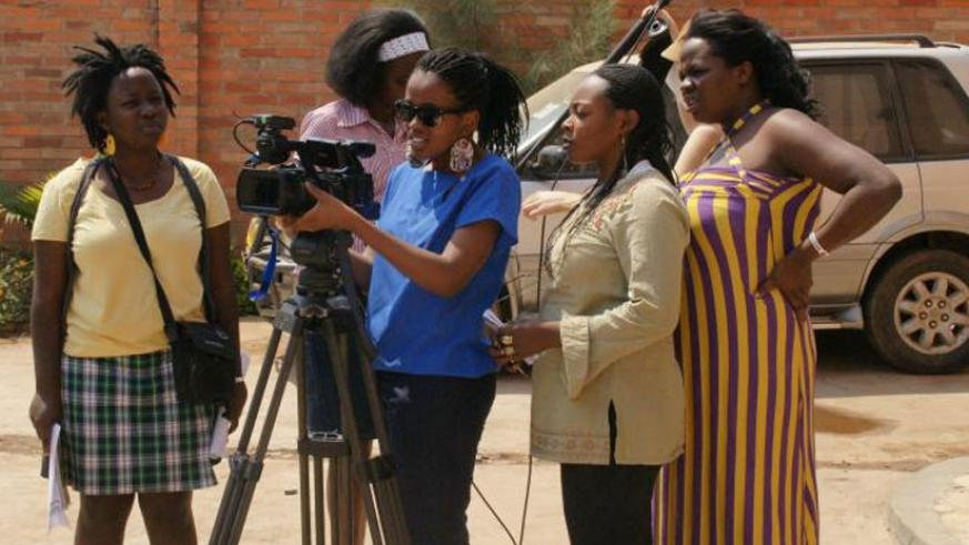 Young women participate in a filmmaking workshop. (Courtesy photos)