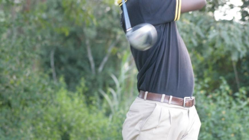 Jean Baptiste Hakizimana is keen to repeat his 2013 heroics when he won the Kabale Golf Open. (File)