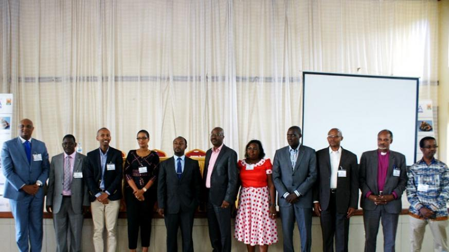 The new leaders of RMA pose for a photo soon after the elections on Thursday.  (Frederic Byumvuhore)