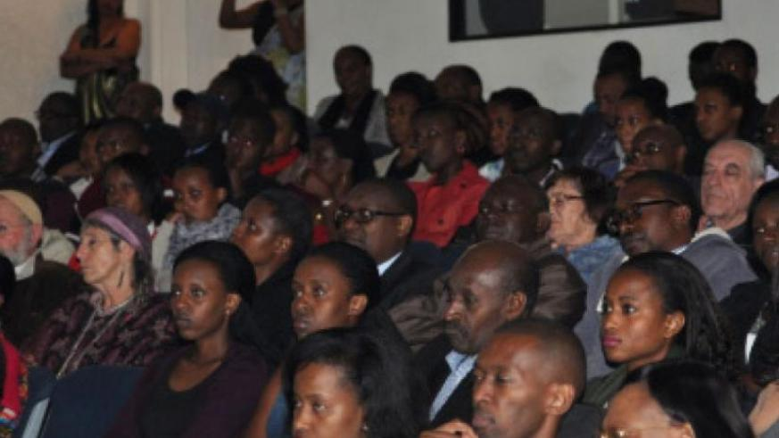 Rwandans and friends of Rwanda in South Africa attend the commemoration event yesterday. (Courtesy)