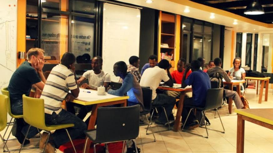 ICT mentors and entrepreneurs in deep discussions. (File)