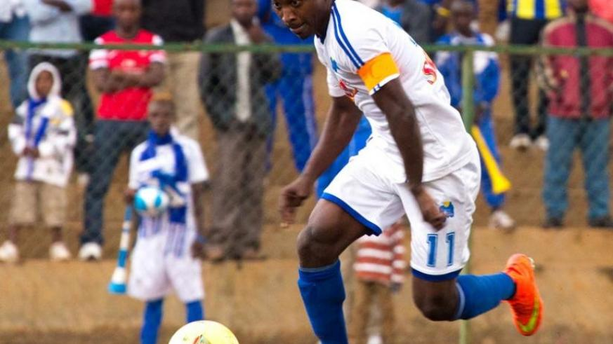 Rayon Sports captain Fuadi Ndayisenga is one of the 12 players that will be out of contract in June. (File)