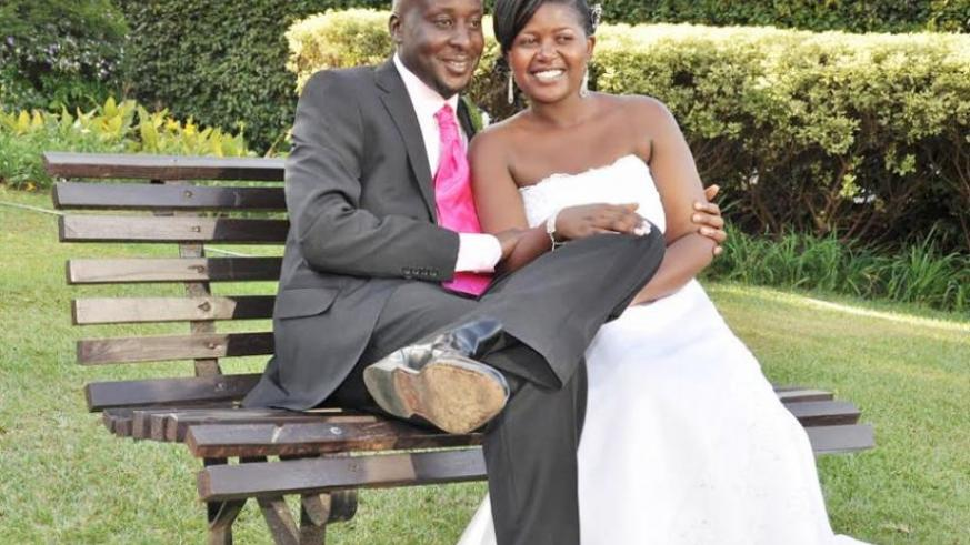 George Kinyera and Olive Uwamaria on their wedding day in 2012. (Courtesy)