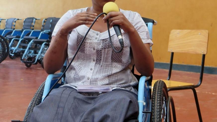 Mukeshimana, a beneficiary expresses her gratitude. (File)