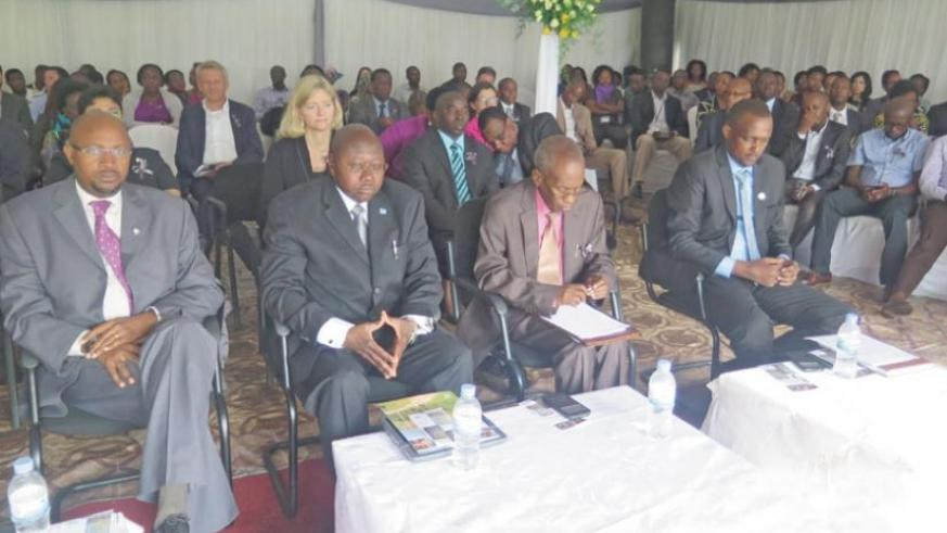 A cross section of UN staff during the Genocide commemoration ceremony at UNDP premises in Kigali. (Lydia Atieno)