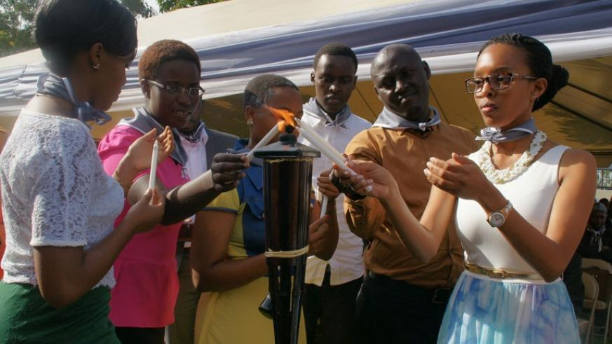 Orphans lit candles as the US embassy staff commemorated the 1994 Genocide against the Tutsi. (Michel Nkurunziza)