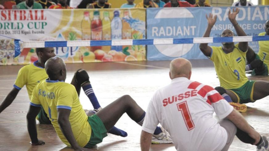 The National Sitball team takes on Switzerland in an Paralympics game qualifier. Rwanda will take a big team to the 2016 Rio Paralympics. (File)