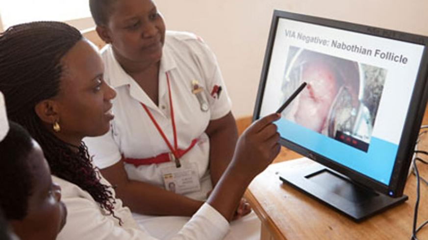 Nurses undergo training on cervical cancer screening in Uganda. Early detection is likely to save your life. (Internet)