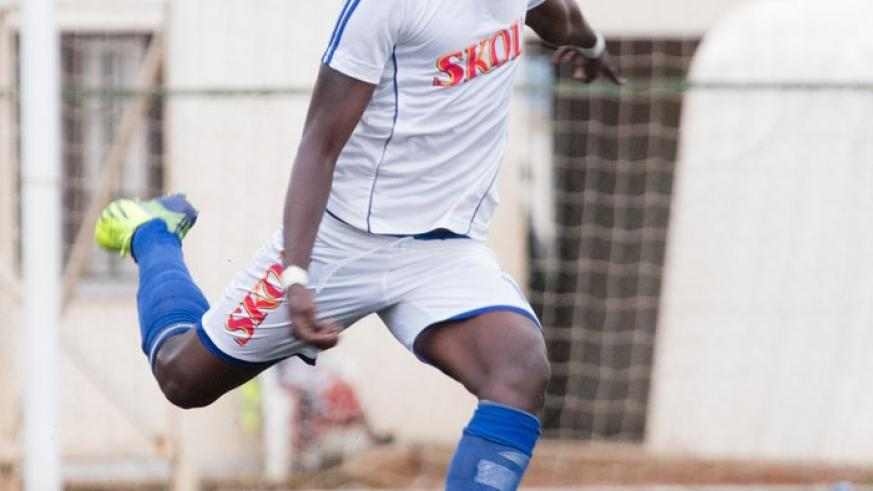 Rayon Sports central defender Faustin Usengimana has caught the eye of U-23 coach Johnny McKinstry. (File)