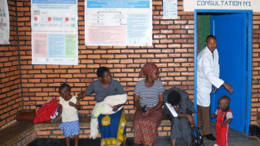Patients at a health centre in Gicumbi District in 2012. (File)