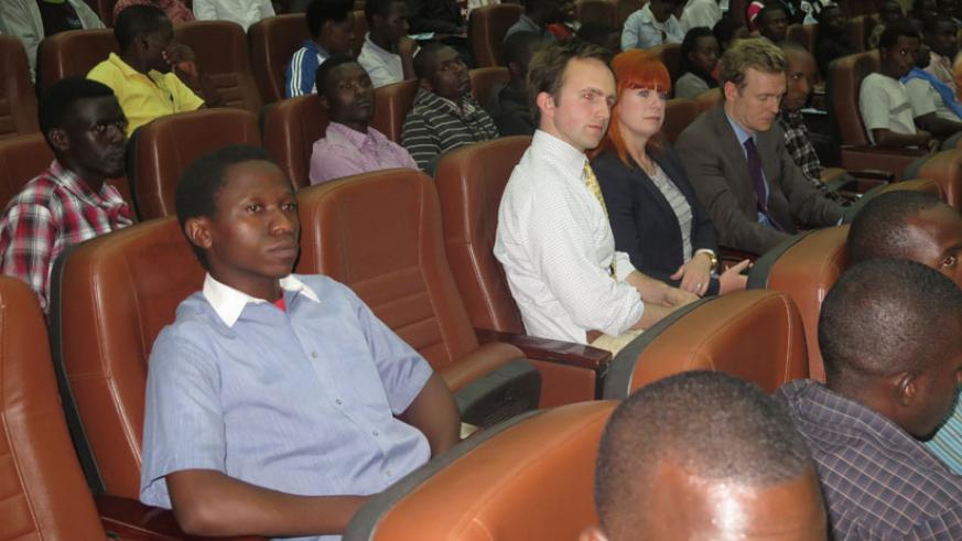 University of Rwanda-College of Education students and guests watch William Shakespeare's popular Romeo and Juliet.  (Solomon Asaba)