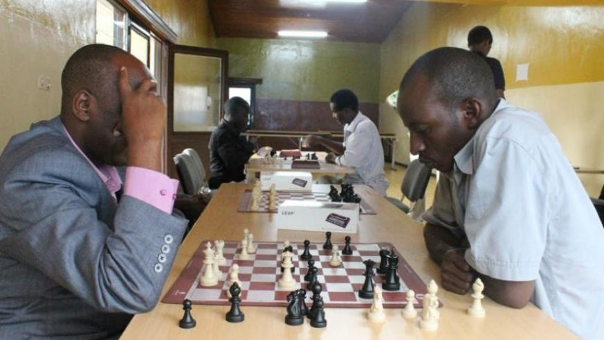Chess players  in a previous tournament. The Chess Open tournament that starts saturday will see the top two represent Rwanda in two international competitions. (File)