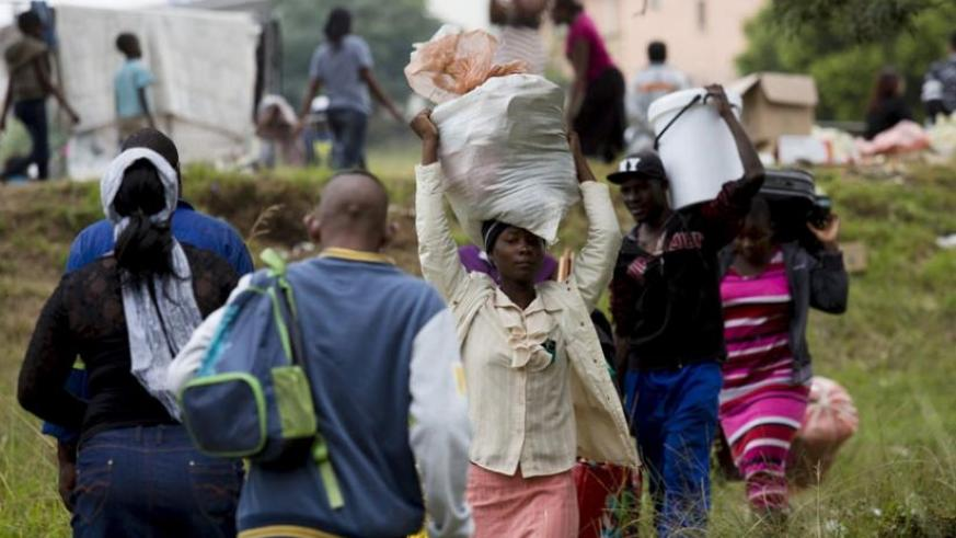 Attacks on foreign nationals, which have left at least seven people dead and more than 5,000 displaced, started in Durban in early April and spread to other parts of South Africa. (Net photo)