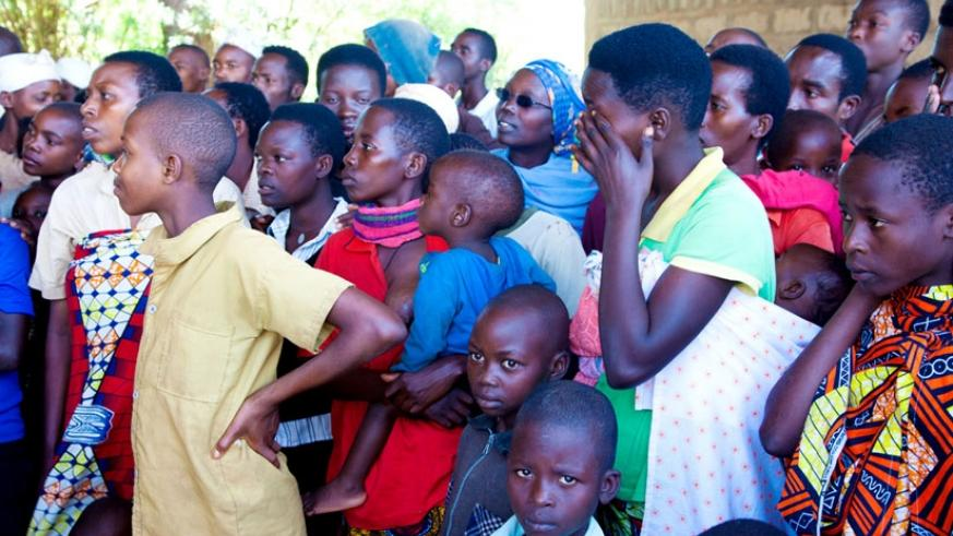 Some of the Burundian children refugees at the Gashora Transit Centre in Bugesera District. (File)