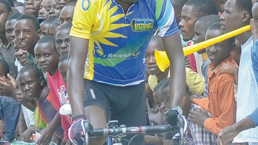 Nathan Byukusenge in action during last year's edition of Tour du Rwanda. (|File)