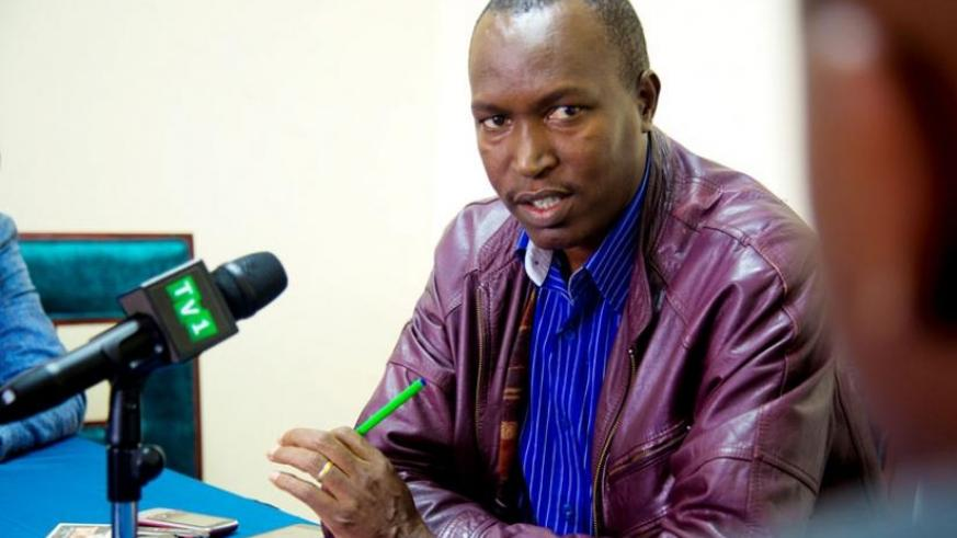 Nimpagaritse, who fled insecurity in Burundi, speaks to the media in Kigali yesterday. (Doreen Umutesi)