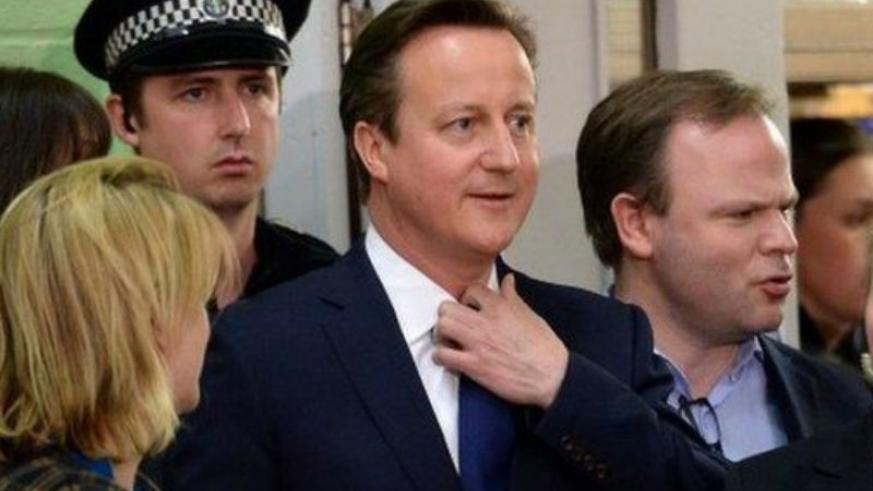 UK Prime Minister, David Cameron's Conservative Party leads in the polls.