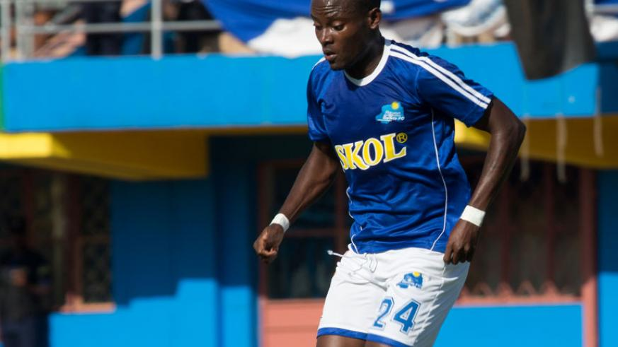 Rayon Sports has sacked midfielder Jerome Sina for Indiscipline. (File)