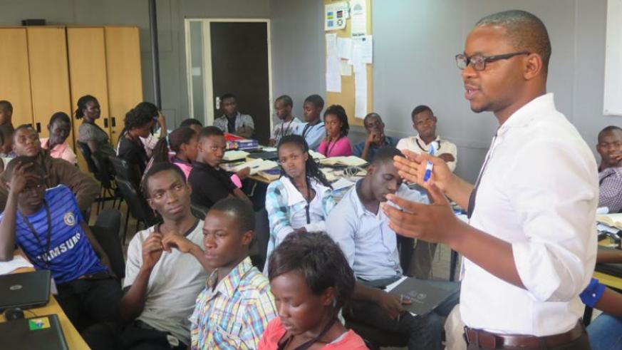 A career and leadership development class in progress. (Moses Opobo)