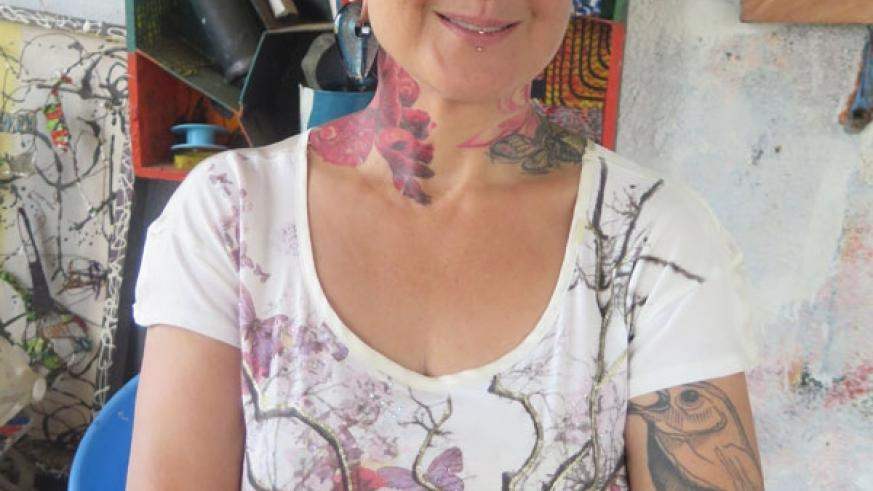 Ivy Gowen says that her tattoos mean something in her life. (Moses Opobo)