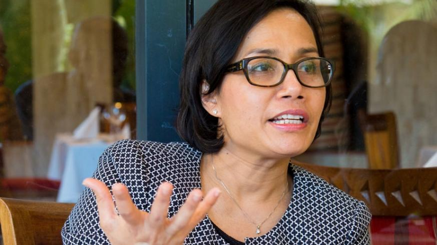 Sri Mulyani Indrawat during the interview with The New Times. (File)