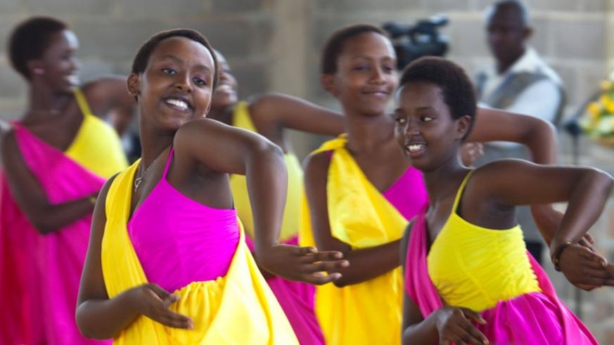 Singing and dancing sessions build teamwork while at the same time making school more interesting. (Timothy Kisambira)